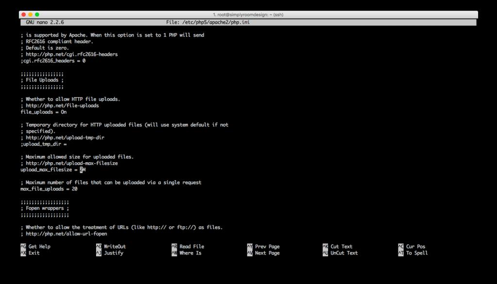 wordpress php memory config