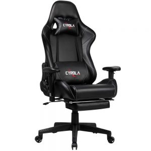 Cyrola Large Gaming Chair with Footrest