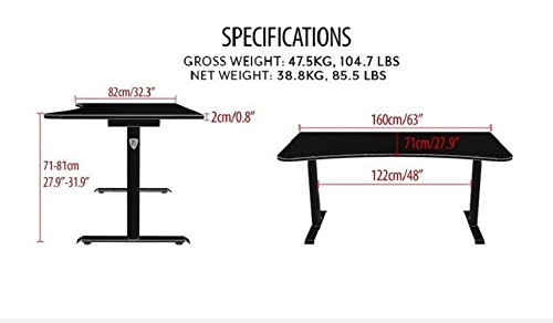 Arozzi Arena Gaming Desk Specs