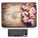 Bizcustom Macbook Air 13 Wood Grain Cherry Blossom Case