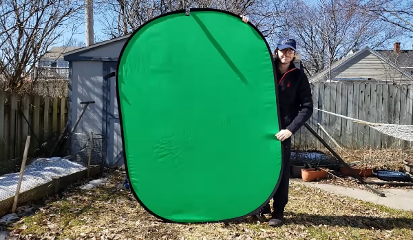 Fancierstudio chromakey green and blue collapsible backdrop