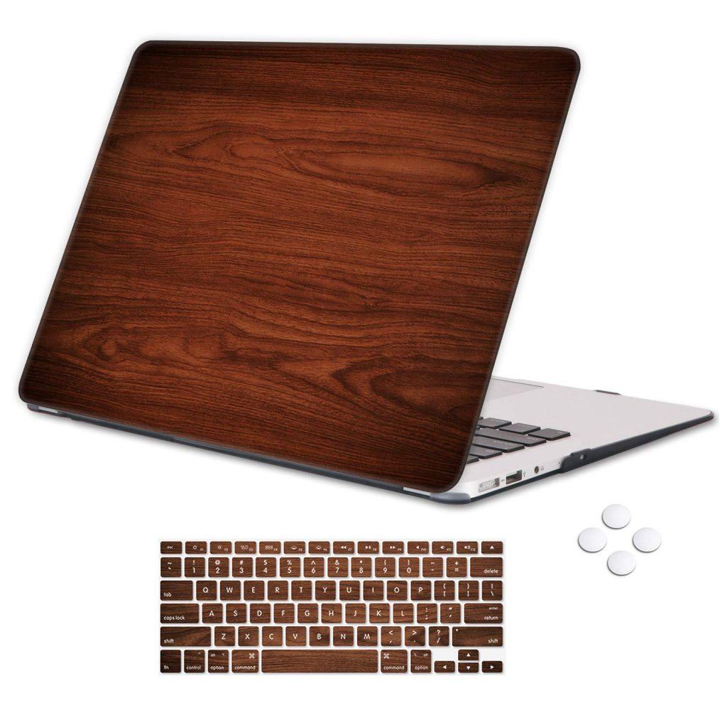 Holilife Macbook Air 13 Brown Wood Grain