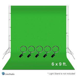 Limostudio Green Muslin Backdrop
