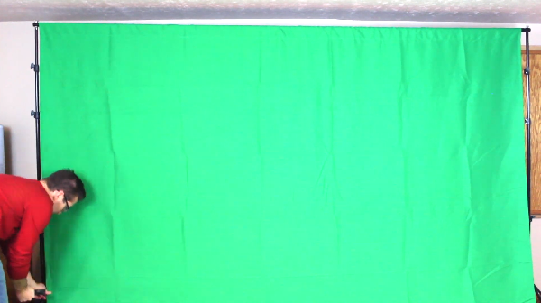 Limostudio green muslin backdrop with ring metal holding clips