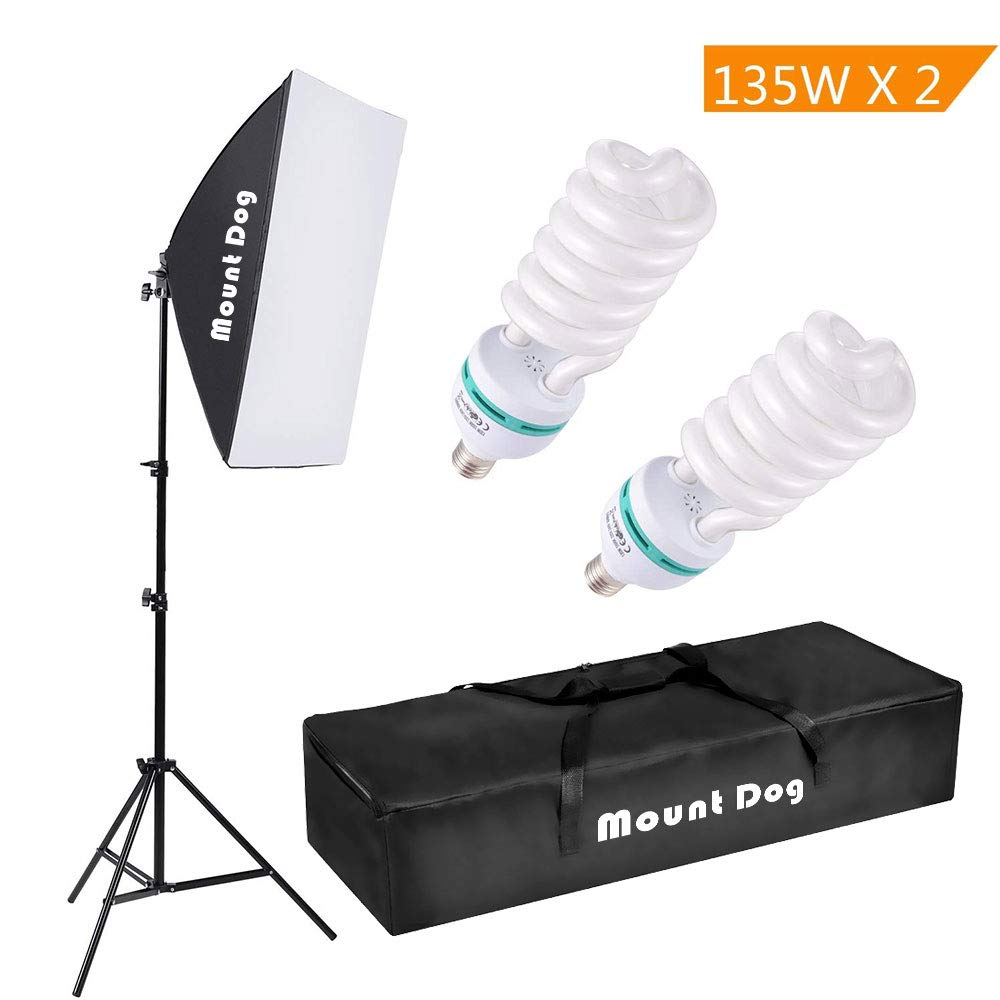 Mountdog 1350w Photography Continuous Softbox Lighting Kit