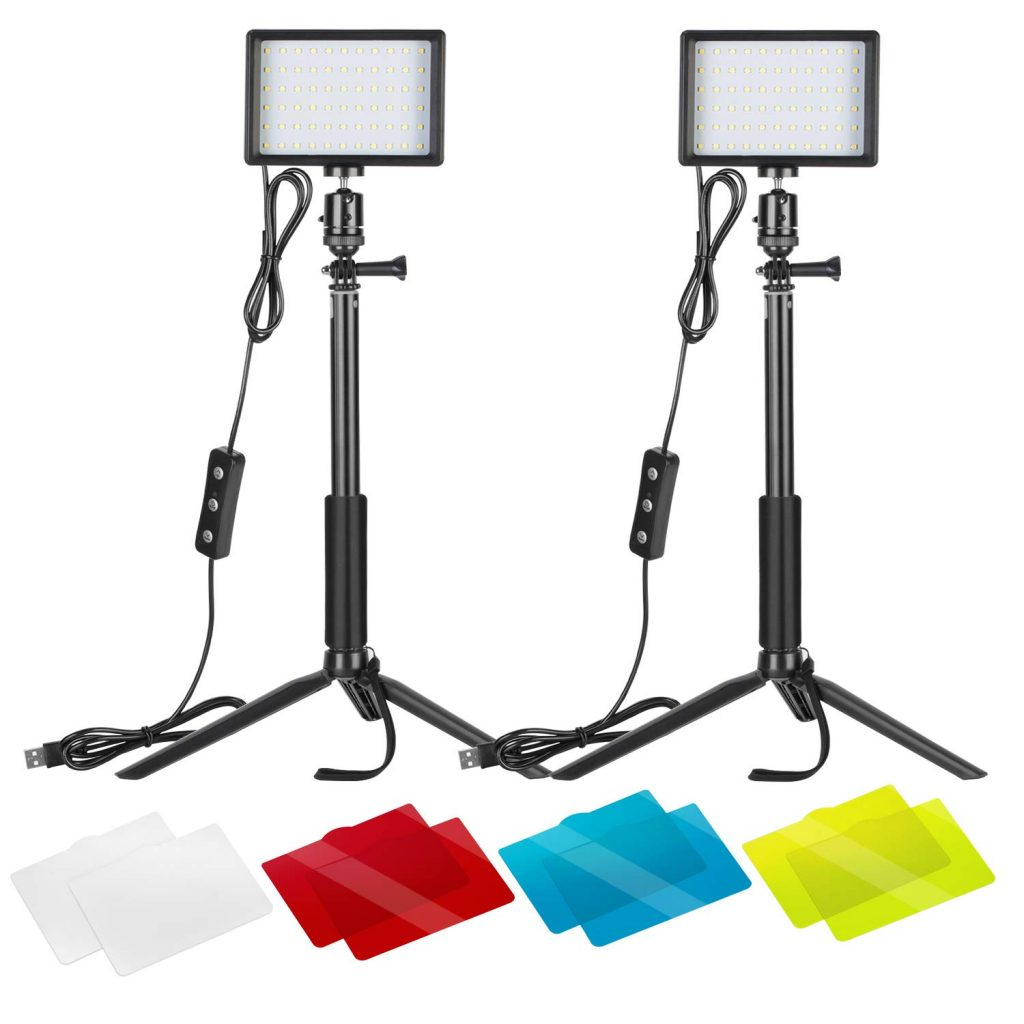 Neewer 2 Packs Dimmable 5600k Usb Led Video Light