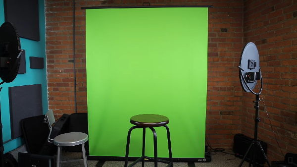 Step 1 set up your green screen background