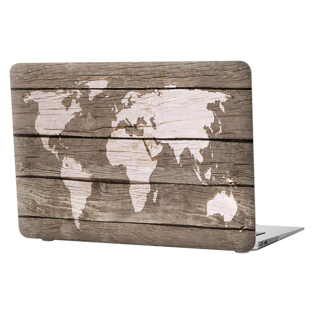 Txesign Premium Macbook Air Natural Wood Map Case