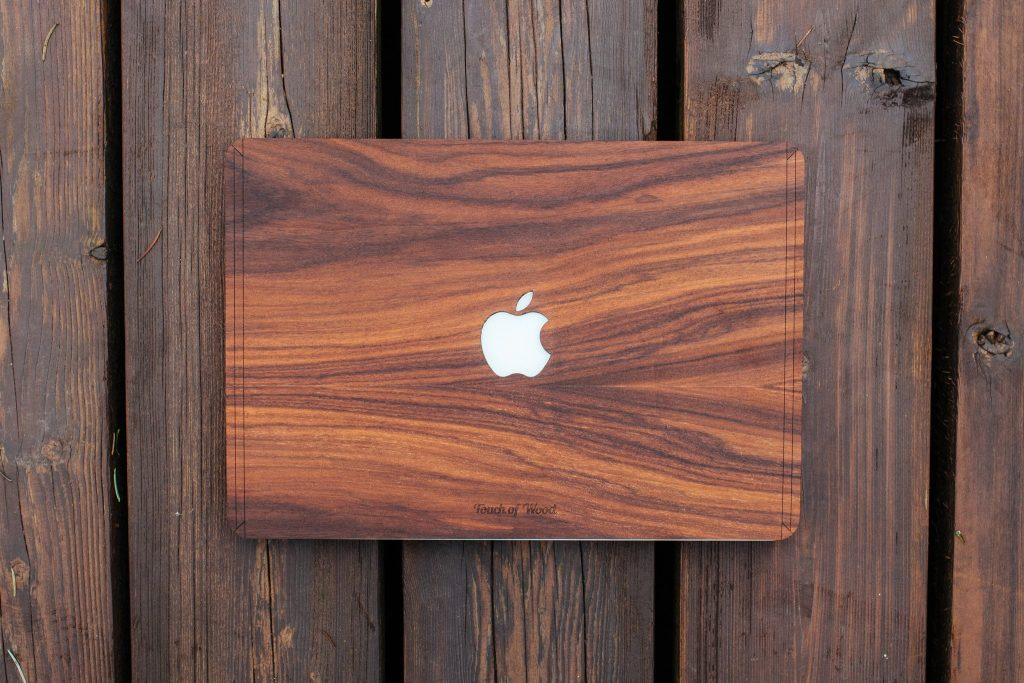 Touch Of Wood Macbook Cover
