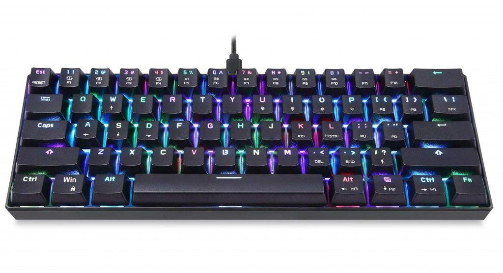 Motospeed 60% Mechanical Keyboard Portable 61 Keys