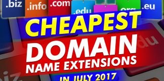Cheapest Domain Name Extensions In July 2017