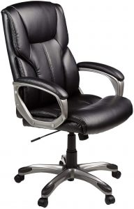 Amazonbasic High Back Leather Executive Office Desk Chair