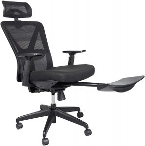 Bonzy Home Reclining Office Chair With Black Footrest
