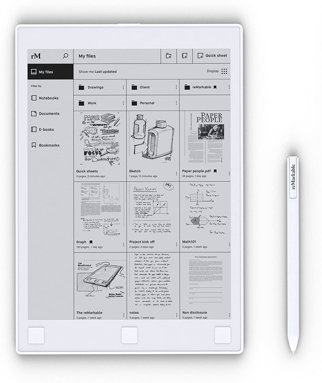 Remarkable The Paper Tablet