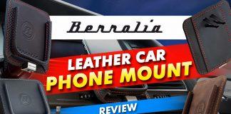 Berollia Leather Car Phone Mount Review