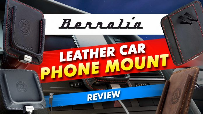 Berollia Leather Car Phone Mount Review