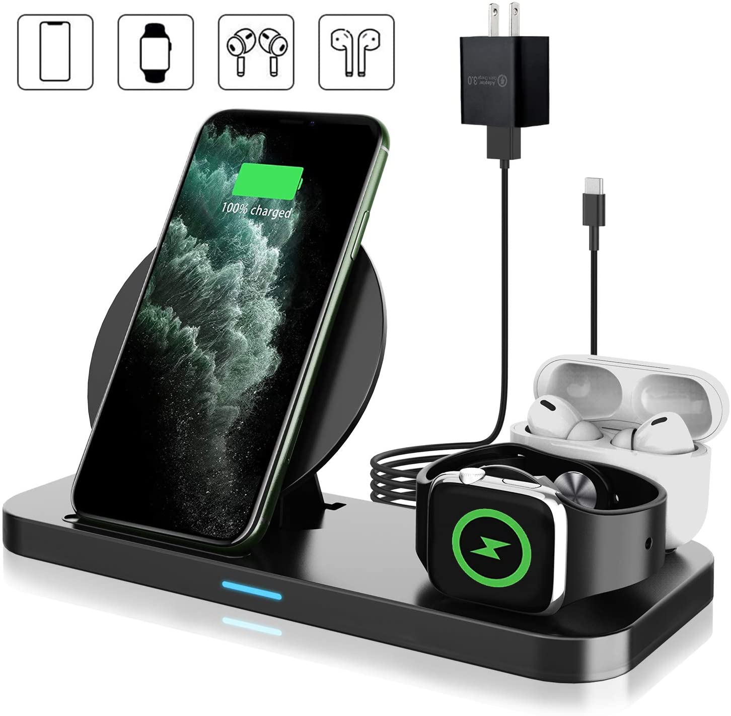 Coobetter 2. 3 In 1 Wireless Charging Station