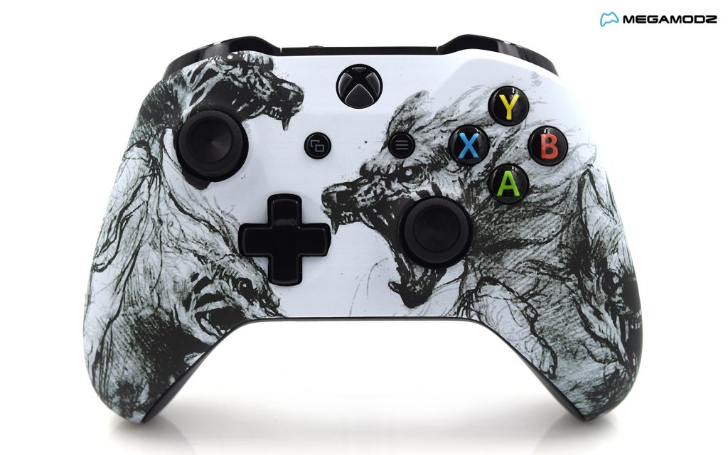 Xbox One S Zombie Wolves Custom Modded Controller