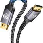 Jsaux Gold Plated Braided Ultra High Speed Displayport Cord