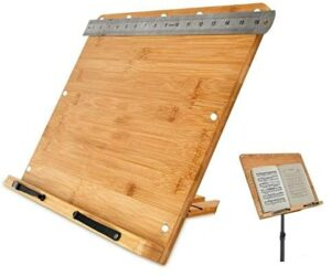 Nustand Bamboo Laptop Book Music Stand