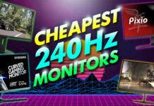 cheapest 240hz monitors