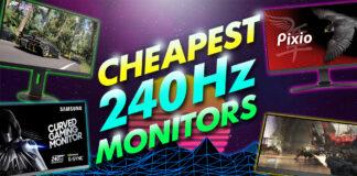 cheapest 240hz monitors