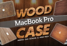 wood macbook pro case mixing old school and high tech
