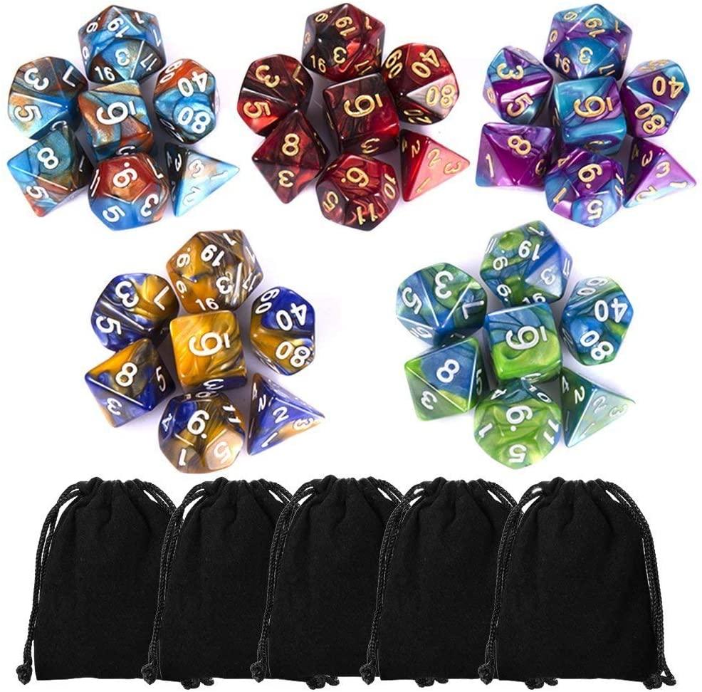 ciaraq polyhedral dice set