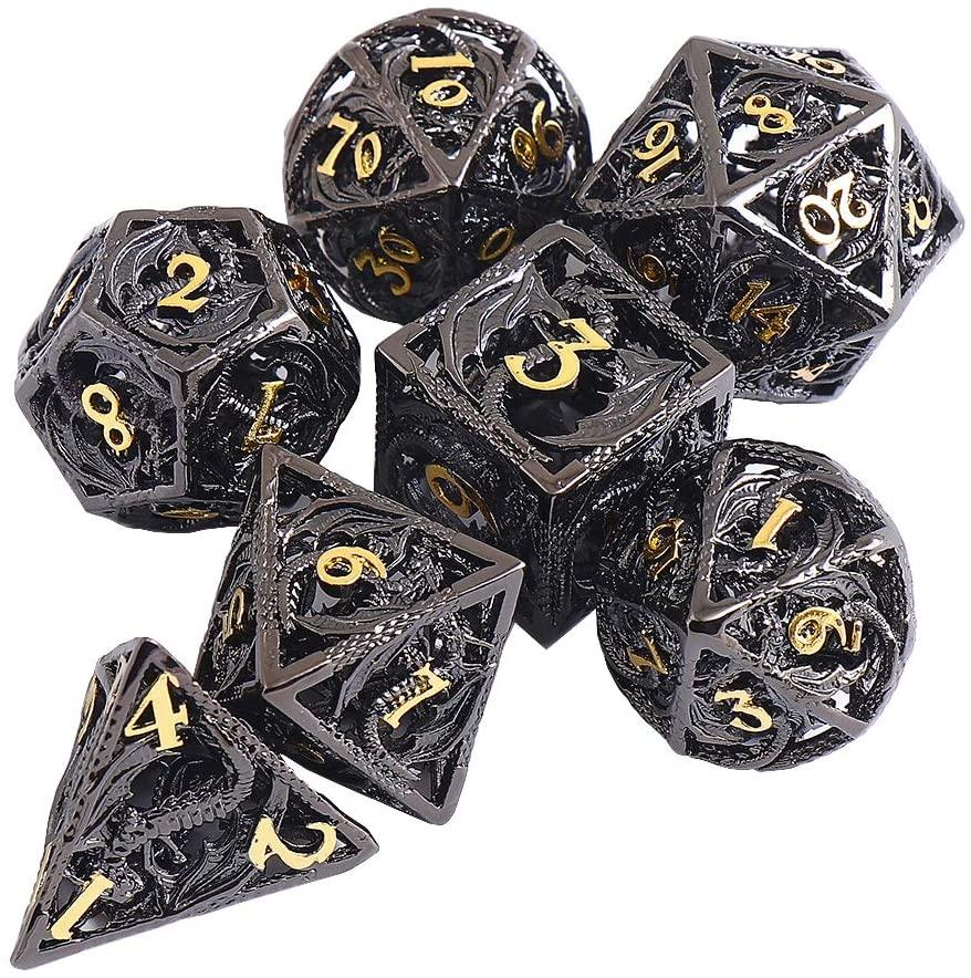 hong hui pure copper hollowed dragon dice