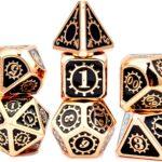 ms hong steampunk metal gaming dice set