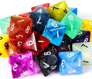 the d8 dice